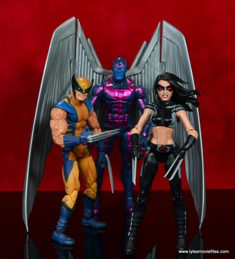 marvel legends x-23 figure review - with wolverine and archangel