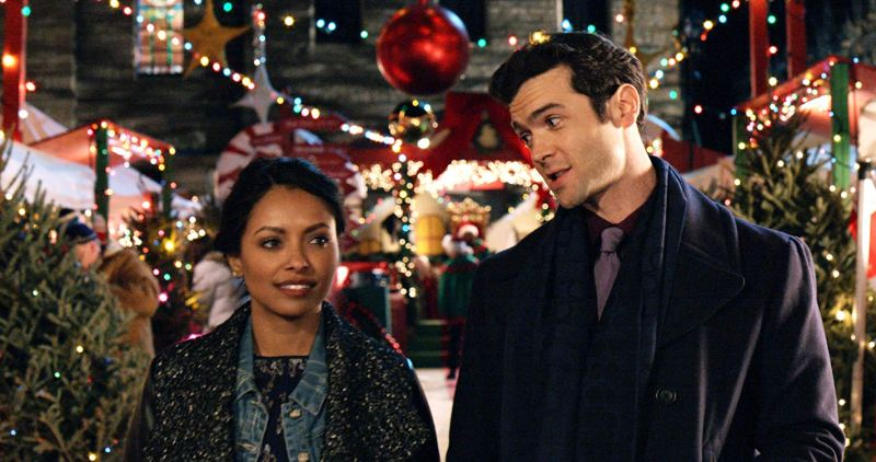 the holiday calendar movie review -kat graham and ethan peck
