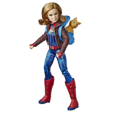 CAPTAIN MARVEL MOVIE CAPTAIN MARVEL DOLL AND MARVEL'S GOOSE - oop