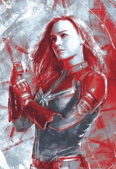 avengers endgame promo art - captain marvel