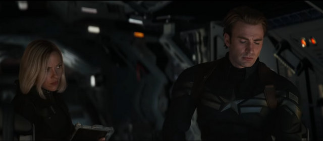 avengers endgame trailer - black widow and captain america