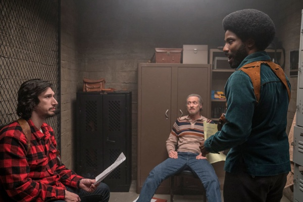 blacKkKlansman movie review - adam driver, michael buscemi and john david washington