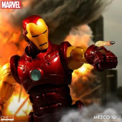 mezco toyz iron man one 12 figure -aiming missile