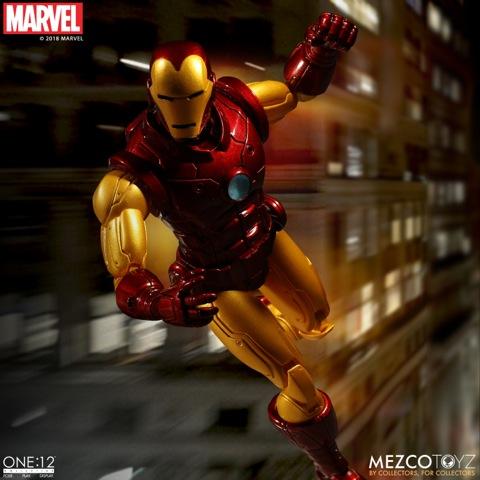 mezco toyz iron man one 12 figure -speeding along