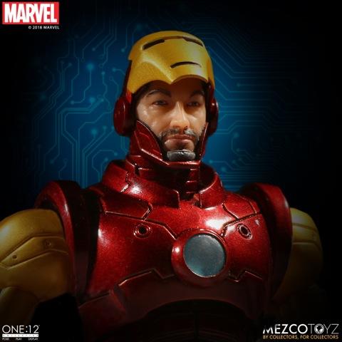 mezco toyz iron man one 12 figure -unmasked