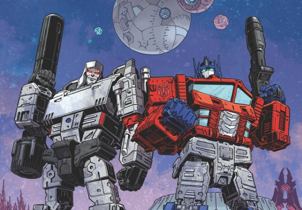 new transformers comic series - megatron and optimus prime