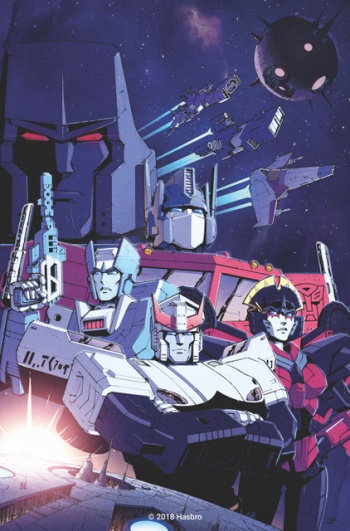 new transformers comic series - megatron, optimus prime, kup, prowl and arcee