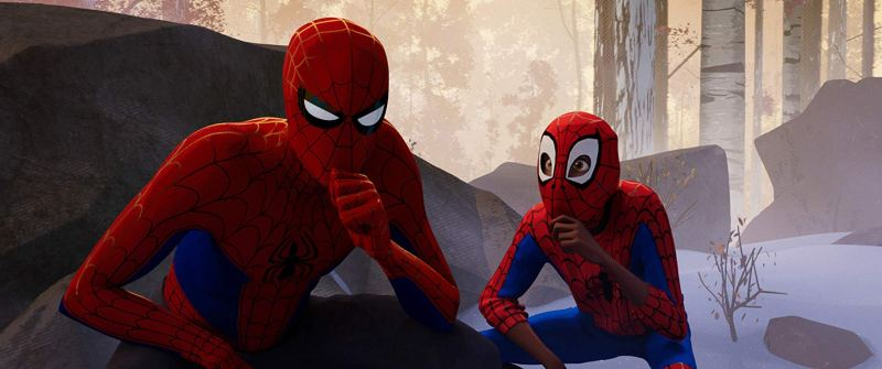 spider-man into the spider-verse review - peter parker and miles morales