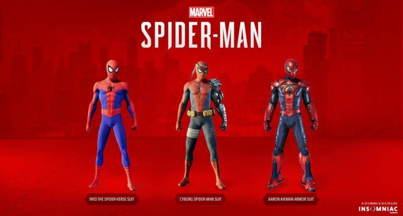 spider-man silver lining dlc - into the spider-verse suit, cyborg suit and aaron aikman armor suit