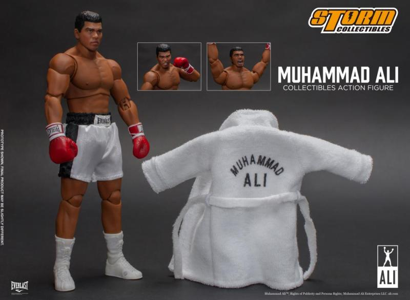 storm collectibles muhammad ali figure -accessories