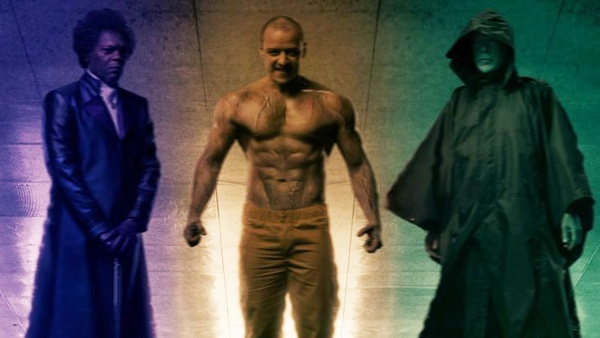 glass movie review - samuel l jackson, james mcavoy and bruce willis main pic