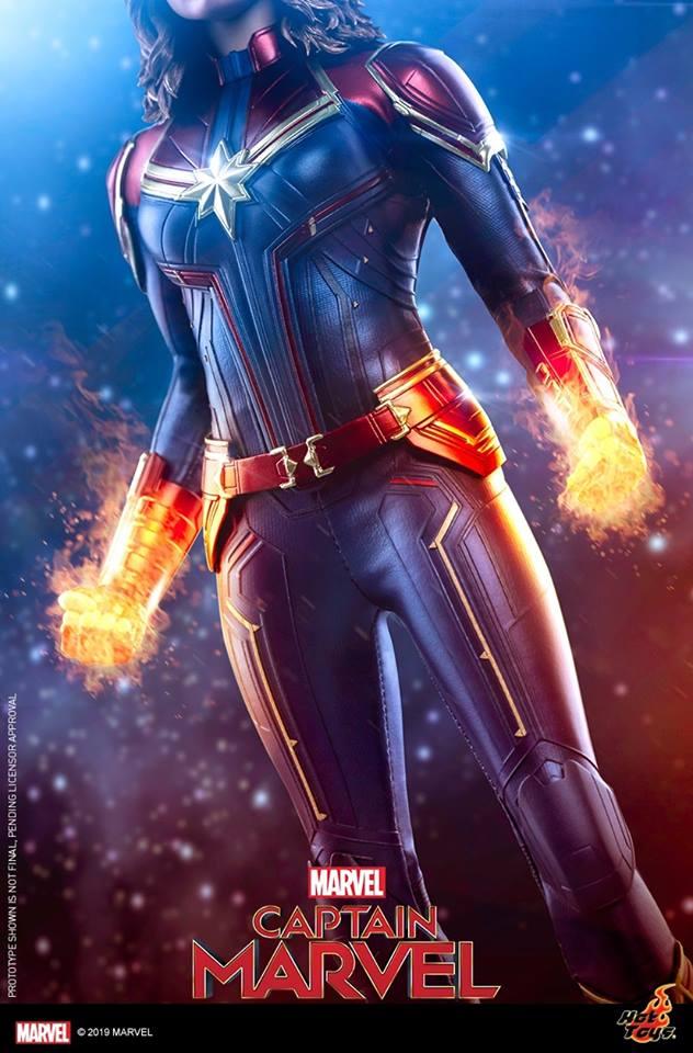 hot toys captain marvel tease