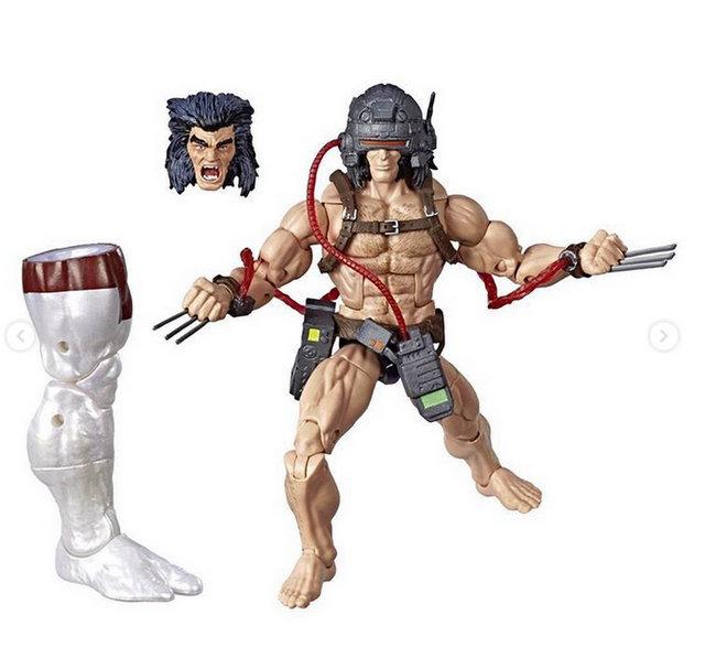 marvel legends x-men build-a-caliban loose - weapon x