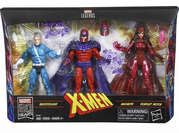 Marvel legends family matters - Scarlet Witch, Magneto and Quicksilver set - packaged