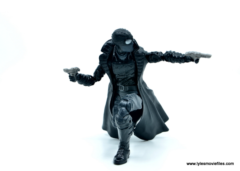 Marvel Legends Spider-Man Noir figure review - aiming on one knee