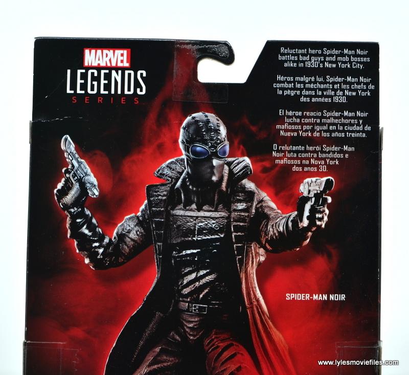Marvel Legends Spider-Man Noir figure review - package bio