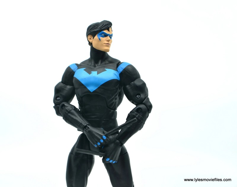 dc essentials nightwing figure review - looking up