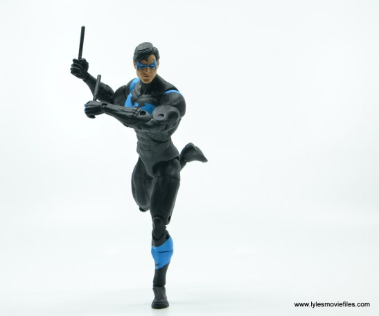 dc essentials nightwing figure review - on the move