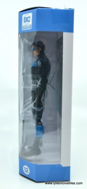 dc essentials nightwing figure review - package left side