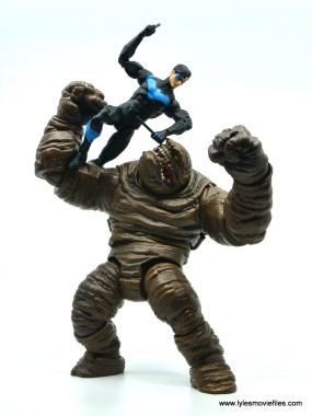 dc essentials nightwing figure review - vs clayface