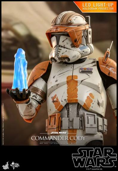 hot toys star wars revenge of the sith commander cody figure -receiving order 66