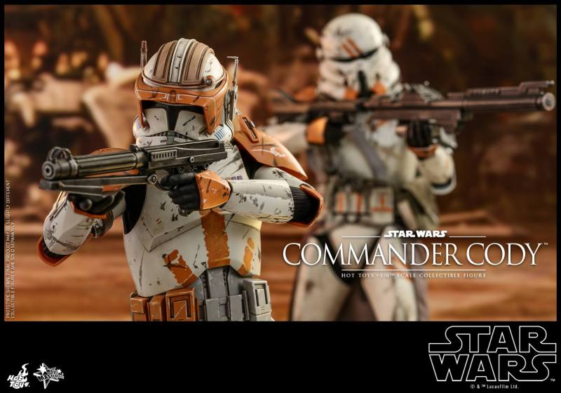 hot toys star wars revenge of the sith commander cody figure -armor detail