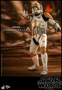 hot toys star wars revenge of the sith commander cody figure -blast him