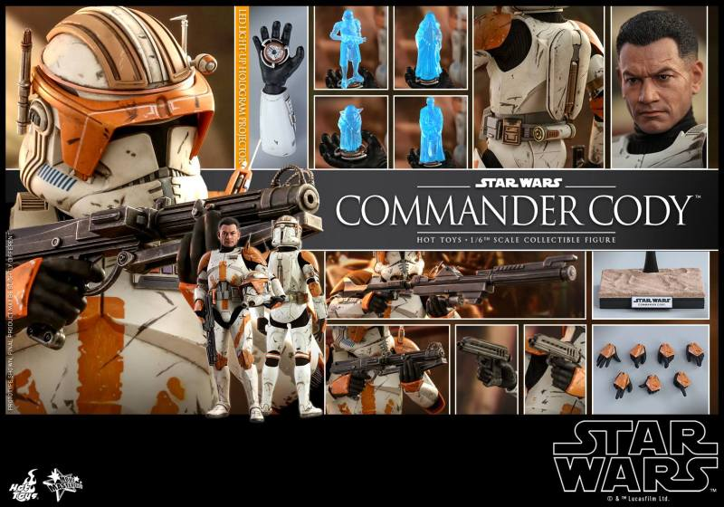 hot toys star wars revenge of the sith commander cody figure - collage