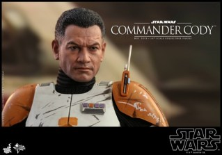 hot toys star wars revenge of the sith commander cody figure -head sculpt detail