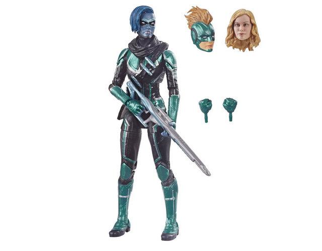 marvel legends captain marvel alternate head sculpt
