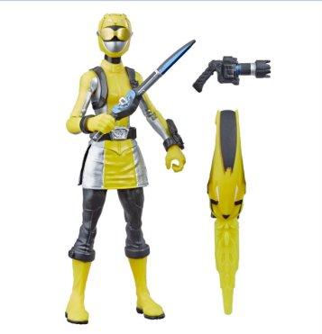 power rangers beast morphers yellow ranger - accessories