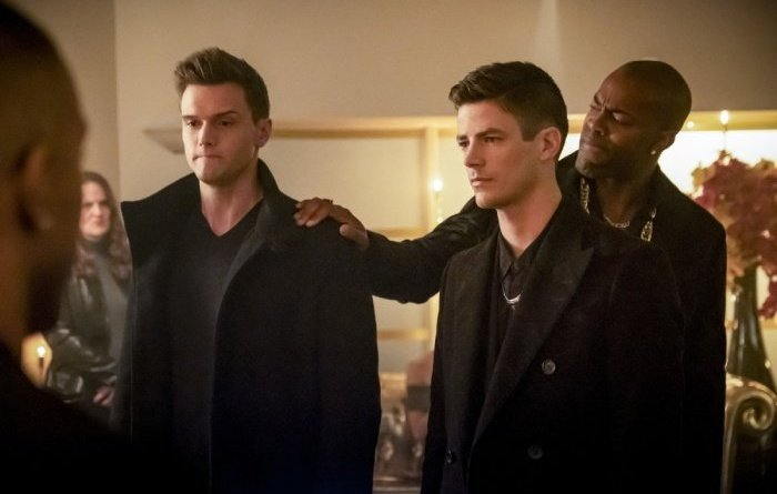 the flash goldfaced - ralph, barry and goldface