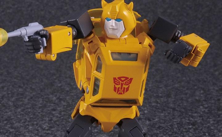transformers masterpiece bumblebee 2.0 figure - wide shot