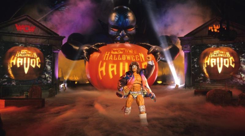 wwe ultimate warrior ultimate edition halloween havoc backdrop