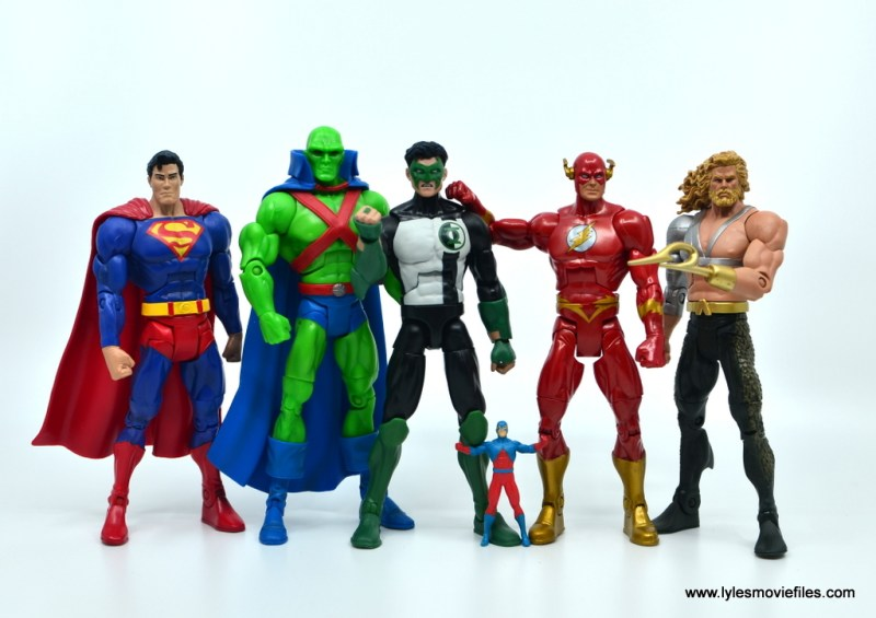 DC Multiverse Kyle Rayner figure review - Morrison JLA Superman, Martian Manhunter, Atom, Flash and Aquaman