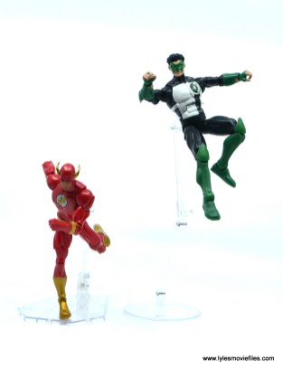 DC Multiverse Kyle Rayner figure review - racing with Wally West