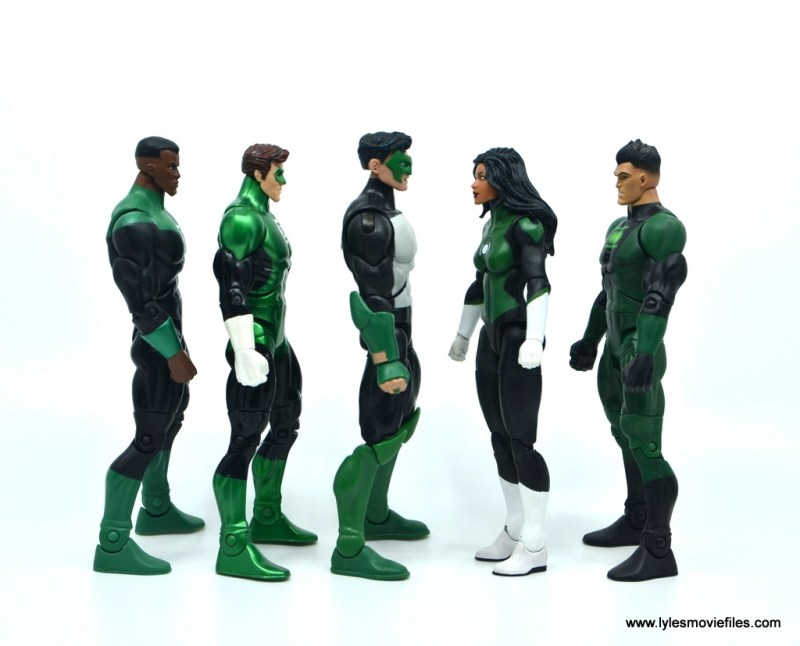 DC Multiverse Kyle Rayner figure review - scale with other green lanterns