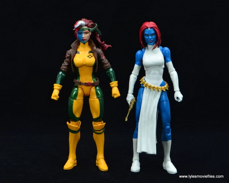 Marvel Legends Mystique figure review -with rogue head