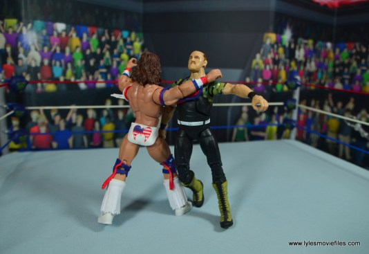 WWE Flashback Ultimate Warrior figure review -clothesline to sgt slaughter