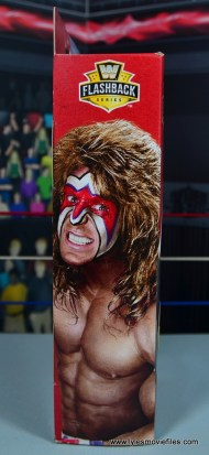 WWE Flashback Ultimate Warrior figure review -package side