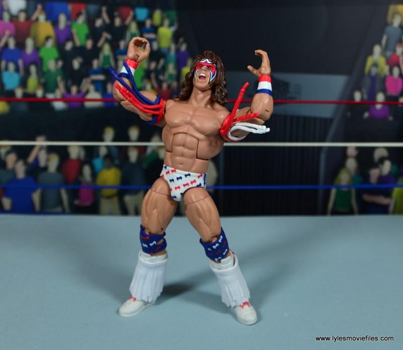WWE Flashback Ultimate Warrior figure review -posing