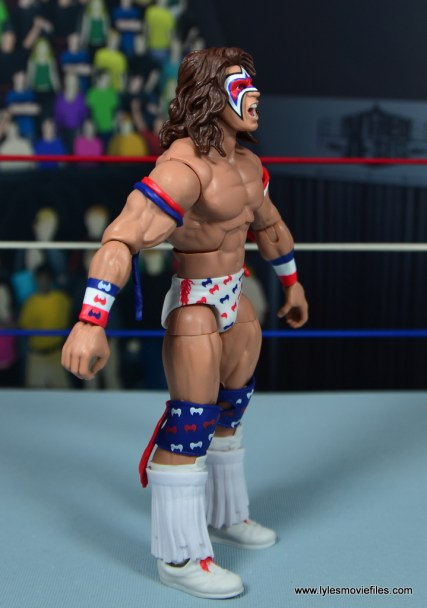 WWE Flashback Ultimate Warrior figure review -right side