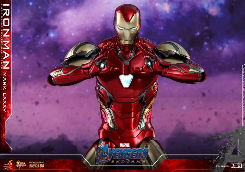 hot toys avengers endgame iron man mark LXXXV figure - channeling omni beam