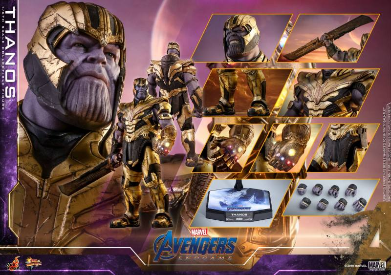 hot toys avengers engame thanos figure -collage