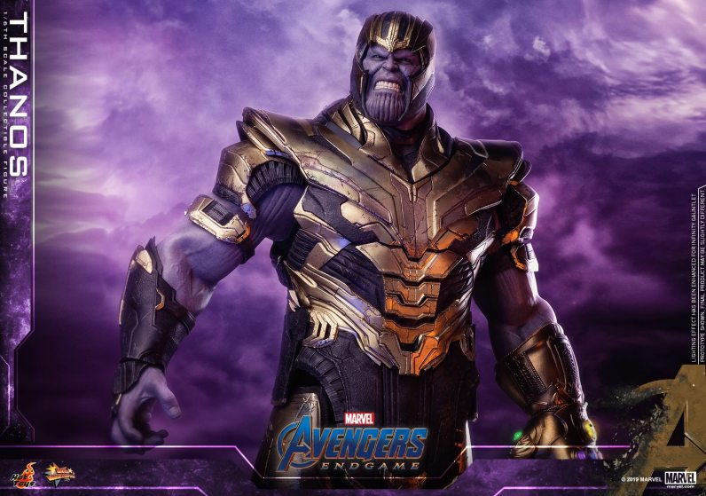 hot toys avengers engame thanos figure -wide armor detail
