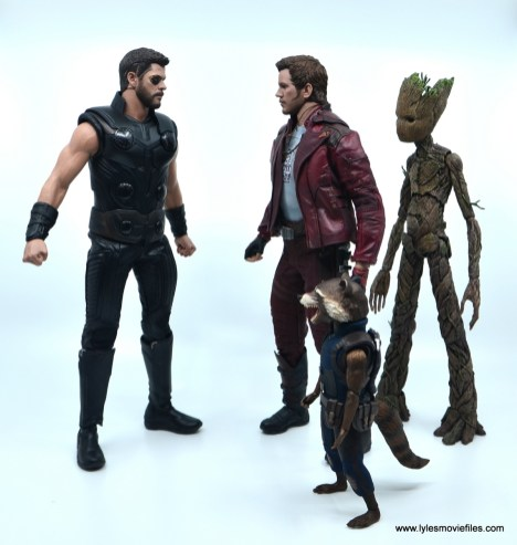 hot toys avengers infinity war thor figure review - meeting guardians