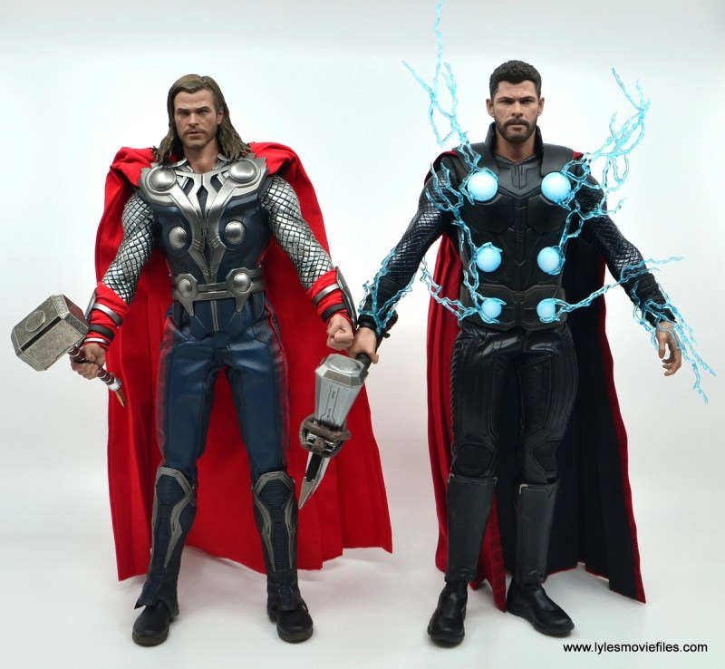 hot toys avengers infinity war thor figure review - with avengers thors