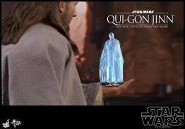 hot toys star wars the phantom menace qui-gon jinn figure -mace hologram