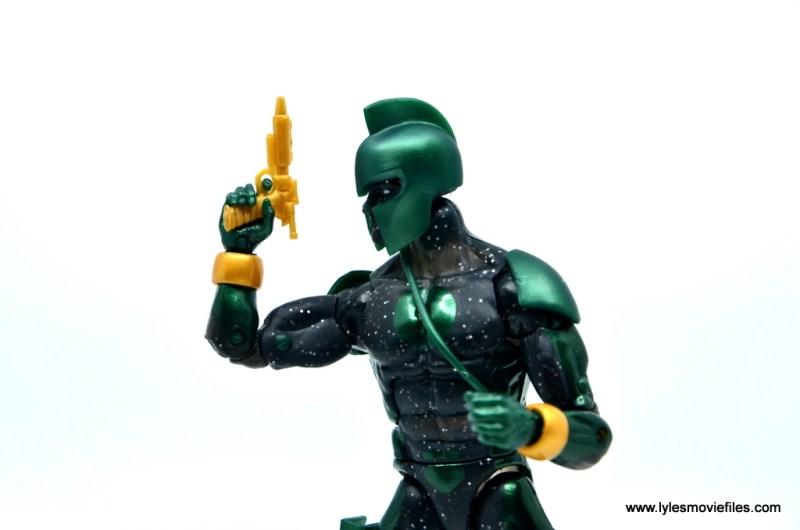 marvel legends genis-vell figure review - blaster close-up