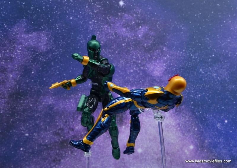 marvel legends genis-vell figure review - knocking out nova